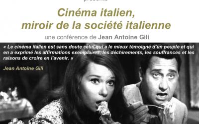 Conférence de Jean Gili, Cinéma italien, miroir de la société italienne