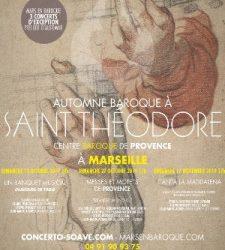 Automne Baroque à Saint Théodore Marseille – Eglise Les Récollets – Saint-Théodore – Musique classique – Les 13, 27 octobre et 17 novembre à 17h