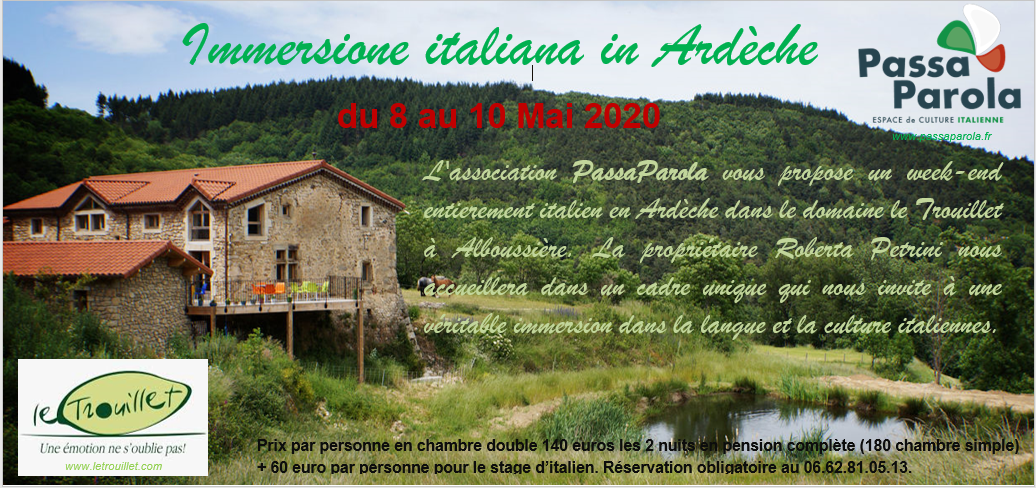 Weekend italien en Ardèche